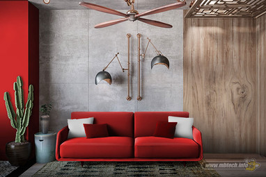 Red Industrial Decor